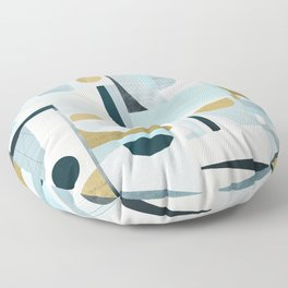 Idle Moments Abstract Art Floor Pillow