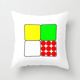 Tour de France Jerseys 3 White Throw Pillow
