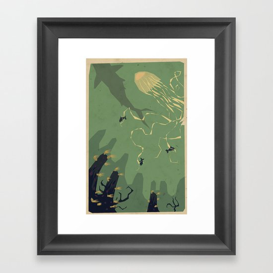 Meanwhile, deep below.... Framed Art Print