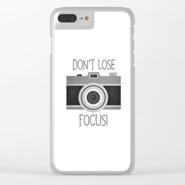 Don't Lose Focus! Clear iPhone Case