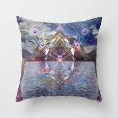 Mountain Eye Throw Pillow