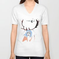 halo V-neck T-shirts featuring Halo by lesinfin