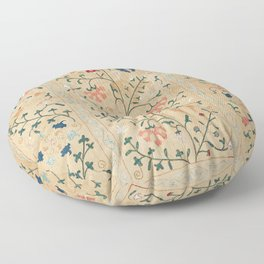 Uzbekistan Suzani Nim Embroidery Print Floor Pillow