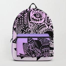 Tribal Inspired Lion Illustration (Gradient) Backpack