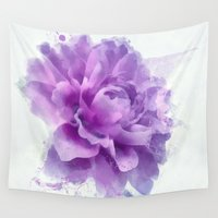 dahlia Wall Tapestries featuring Dahlia by Ciro Design