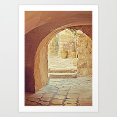Jerusalem Courtyard Art Print