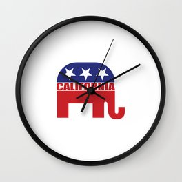 California Republican Elephant Wall Clock