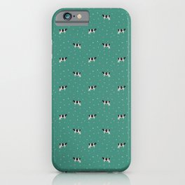 Holstein // Sprinkles on Green iPhone Case