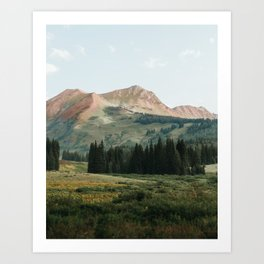 Pink Mountain Spine in Crested Butte Art Print