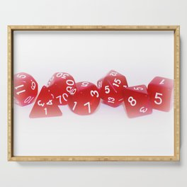 Red Gaming Dice Serving Tray