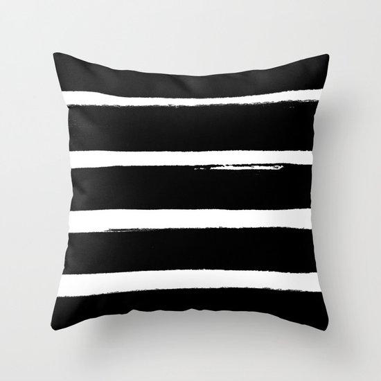 BLK Stripes Throw Pillow by Georgiana Paraschiv Society6