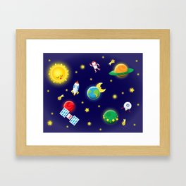Outer Space Mission Framed Art Print