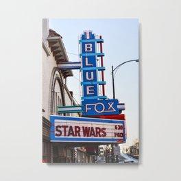 Blue Fox Movie Theatre Metal Print