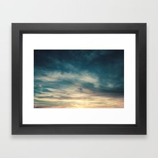 Summer Clouds Framed Art Print