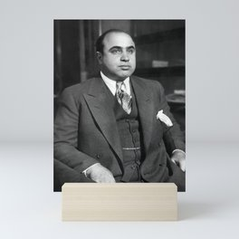 Al Capone In Custody - Chicago Detective Bureau - 1931 Mini Art Print
