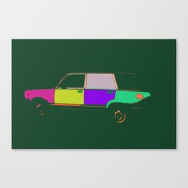 Soviet car, pop style Canvas Print