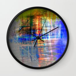 abstract dessign color ## ## Wall Clock