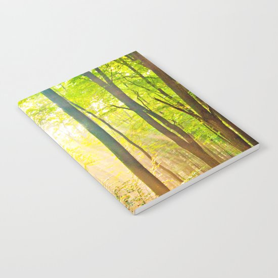 Sunbeams in the forest Notebook