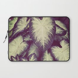 White Caladium Laptop Sleeve