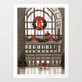 Union Station Santa Art Print