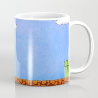 mario bros Mugs featuring Super Mario Bros. by Theodore Parks
