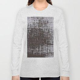 Woven Grey Abstract Long Sleeve T-shirt