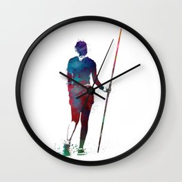 javelin throw #sport #javelinthrow Wall Clock