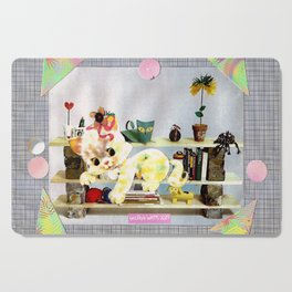 Home Crafts handcut collage Cutting Board