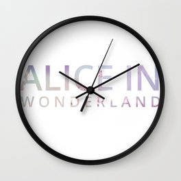 Alice in Wonderland Flowers Wall Clock