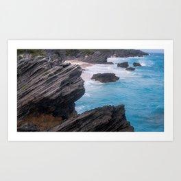 Bramuda Cliffside Art Print