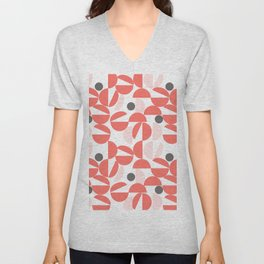 Living Coral Abstract Unisex V-Neck