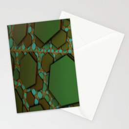 Hex Field  Stationery Cards