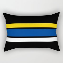 TEAM COLORS 2....Yellow,blue and white Rectangular Pillow