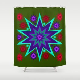 Fireworks Wacky Celebration Shower Curtain