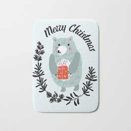 christmas bear Bath Mat