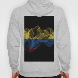 Colombia Smoke Flag on Black Background, Colombia flag Hoody