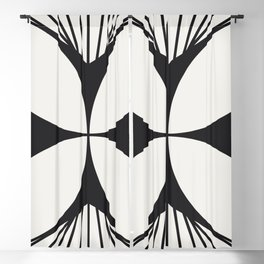 Diamond Series Floral Cross Charcoal on White Blackout Curtain