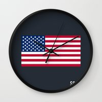 scandal Wall Clocks featuring Scandal - Minimalist by Marisa Passos