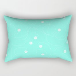 Playful Azul Rectangular Pillow