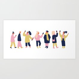 Social Media People Art Print