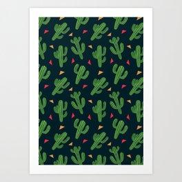 Cactus Fiesta Art Print