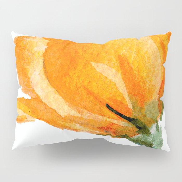 Orange Rose Pillow Sham
