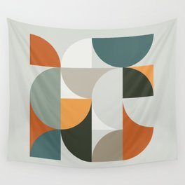 Mid Century Geometric 12 Wall Tapestry