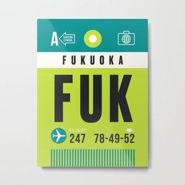 Luggage Tag A - FUK Fukuoka Japan Metal Print