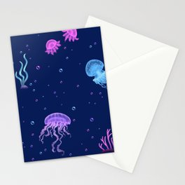 Jellyfish Bubble Sea Stationery Cards