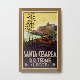 Vintage Italian travel Santa Cesarea Terme Lecce Metal Print