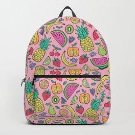 fruit on pink Backpack