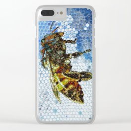 Bee blue Clear iPhone Case