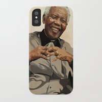 mandela iPhone & iPod Cases featuring ICON: Mandela by Diavu'