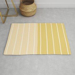 Two Tone Stripes - Yellow Rug